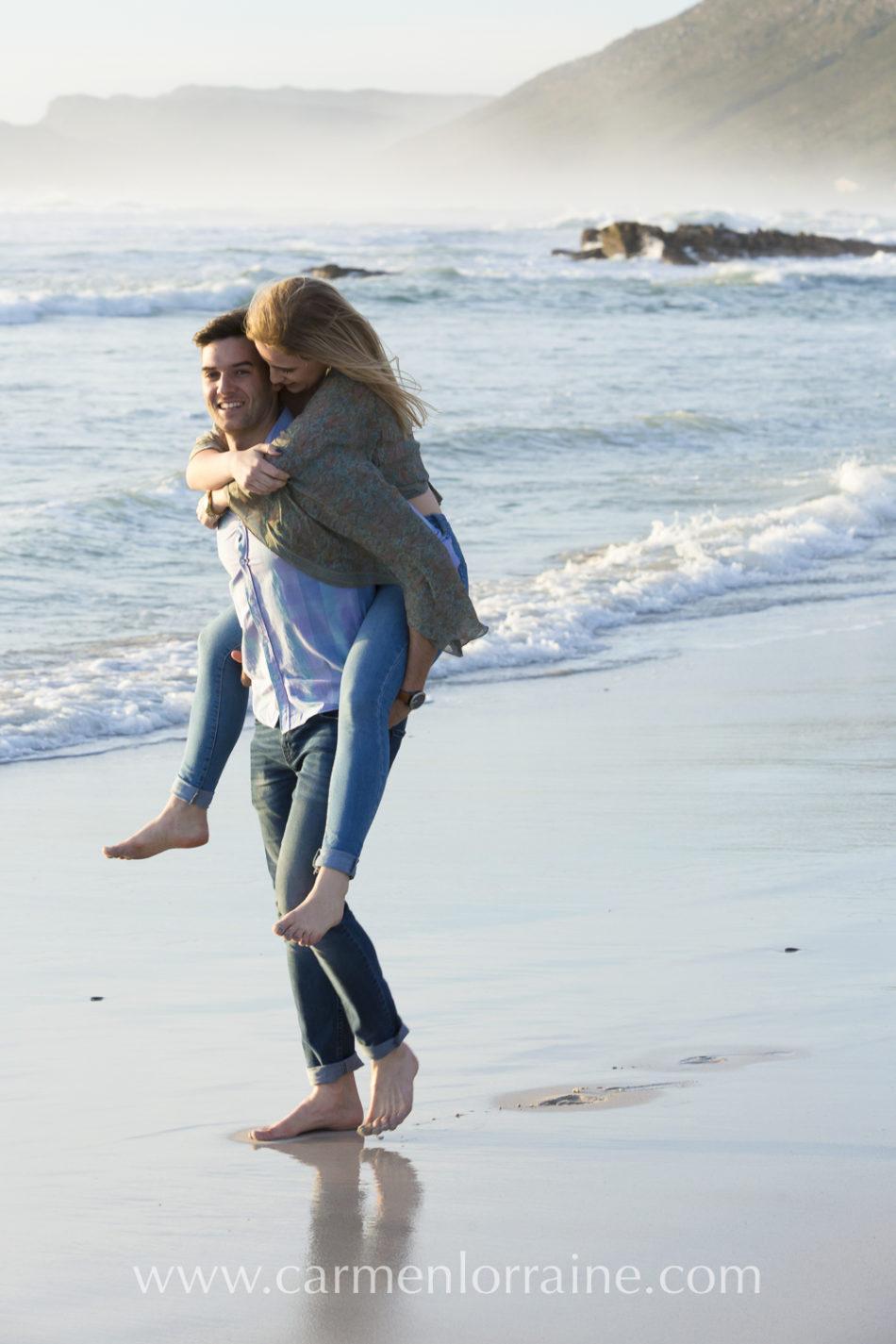 couple involve on the beach