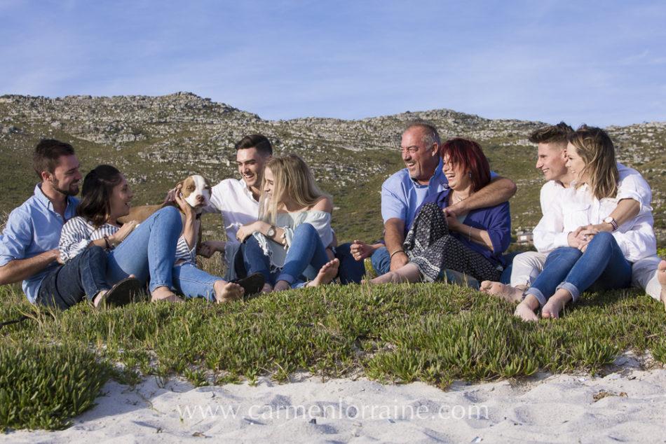 Family photo shoot on Scarborough