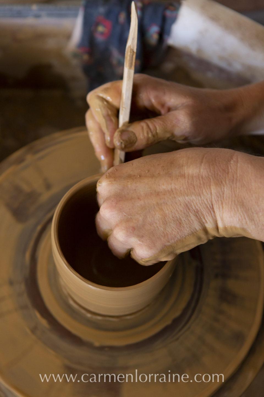 design work on clay