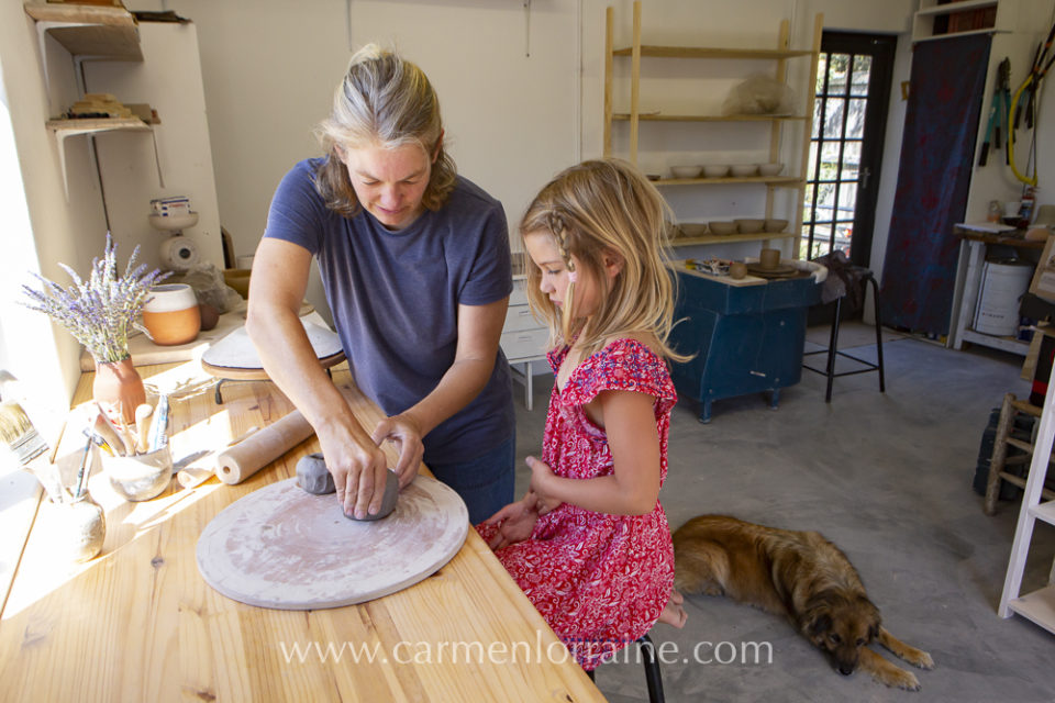 teaching children to work with clay